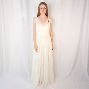 BHLDN Hitherto Fleur Dress Ivory Lace Bridesmaid